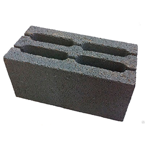 Блок керамзитобетонный (фр. 0,2-5)  390 х 190 х 190