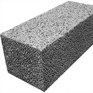 Блок керамзитобетонный полнотелый  390 х 190 х 190