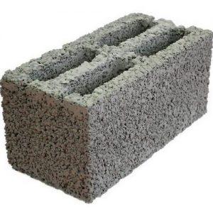 Блок керамзитобетонный (фр. 5-10)  390 х 190 х 190