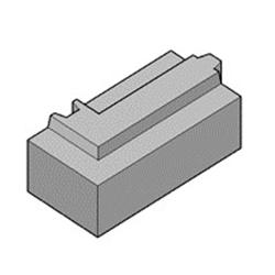 Блок полистиролбетонный с пазогребнем угловой D400 600 x 300 x 200