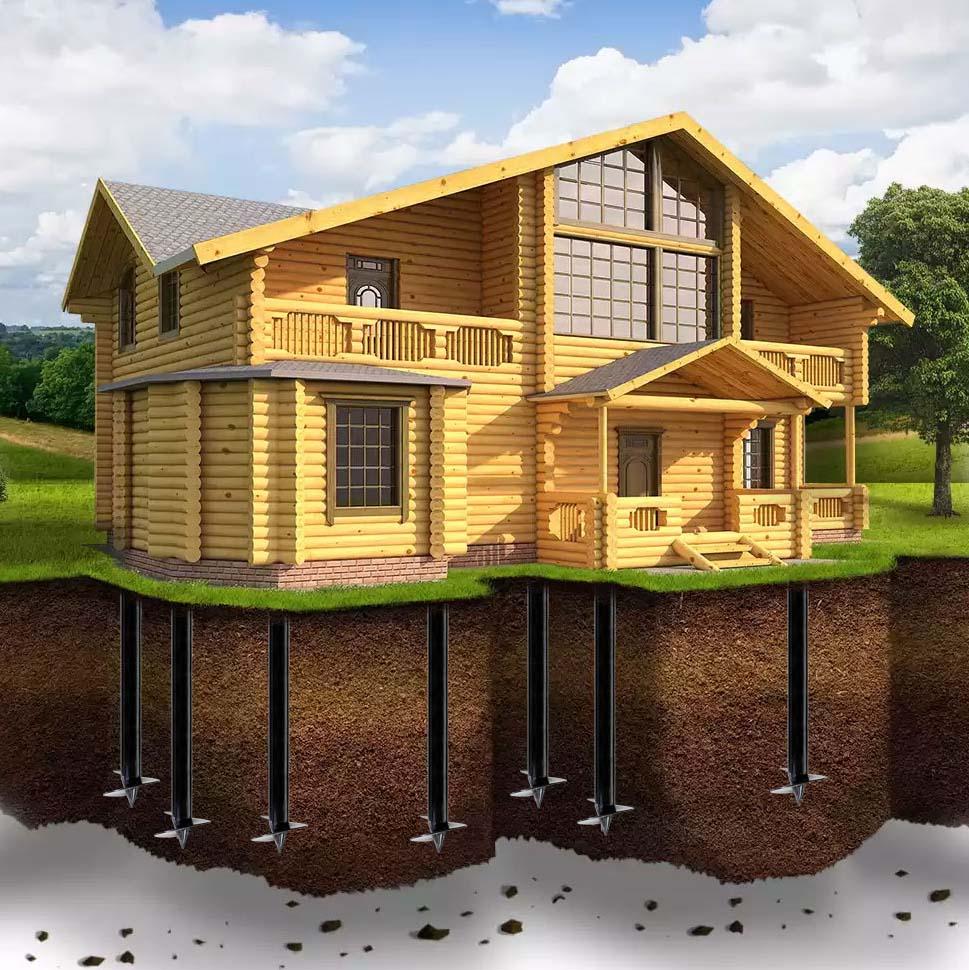 Особенности домов на свайном фундаменте