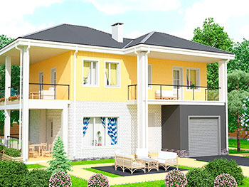 панели из полистиролбетона дом
