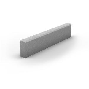 Бордюр тротуарный (вибропресс) серый
