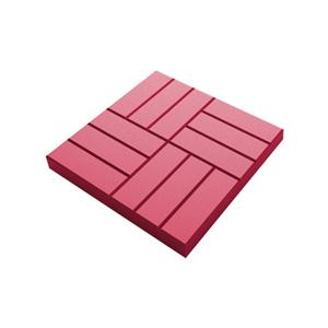 Тротуарные плиты 12 камней красный