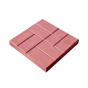 Тротуарные плиты 8 кирпичей (шагрень) красный