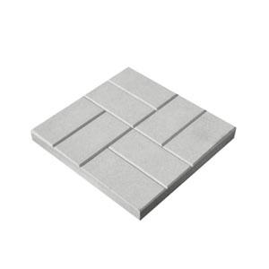 Тротуарные плиты 8 кирпичей (шагрень) серый
