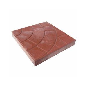Тротуарные плиты Колодец красный