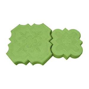 брусчатка клевер краковский зеленая