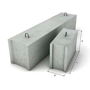 размер бетонного блока фото