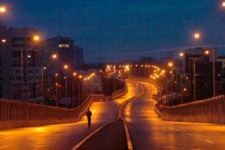 высота уличных столбов освещения фото