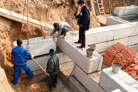 строительство домов из фбс фото